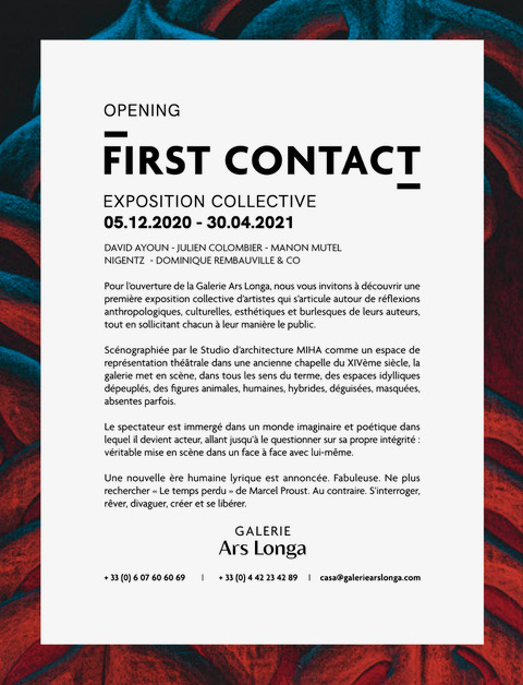 Exposition First Contact Galerie Ars Longa